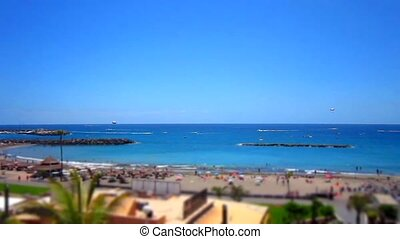 Tenerife - Beach,See,Boat and People have fun