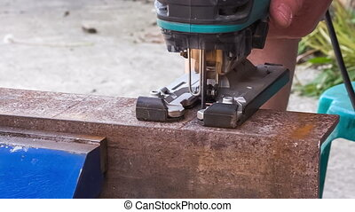 cutting metal workpiece - workflow of cutting metal...