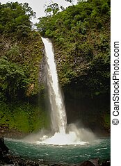 La Fortuna Waterfall, Costa Rica - Waterfall located at the...