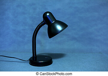 The Lamp - Toned Photo of the Lamp on the Blue Background