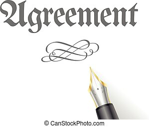 Agreement - illustration of an Agreement Letter with...