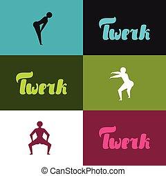 Twerk and booty dance background for dancing studio
