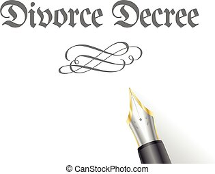 Divorce Decree - illustration of a Divorce Decree Letter...