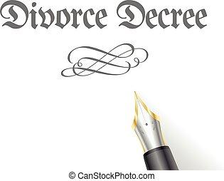 Divorce Decree - illustration of a Divorce Decree Letter...