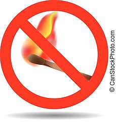 Sign of the fire ban