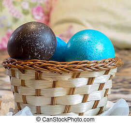Colored Eggs Macro - Colorful painted Easter eggs...