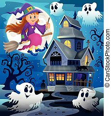 Image with haunted house thematics 8 - eps10 vector...