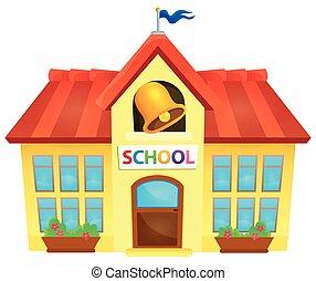 School building theme image 1 - eps10 vector illustration.