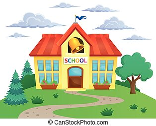 School building theme image 2 - eps10 vector illustration.