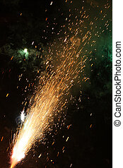 New Year\'s Eve Fireworks - burning firecracker on New...