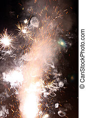 Party on New Year\'s Eve - burning firecracker on New...