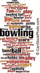 Bowling-vertical [Converted].eps - Bowling word cloud...