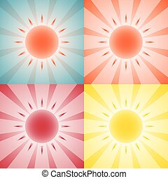 Backgrounds with sun
