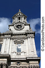 St Pauls Cathedral, London England - Clocktower of St Pauls...