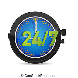 all day every day service watch illustration design over...