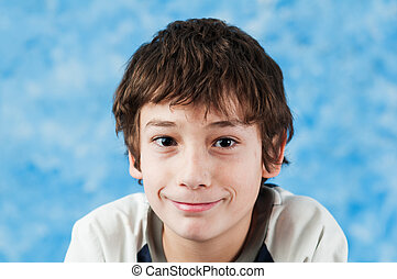 smiling 10 year old - 10 year old boy smiling