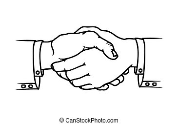 Bussines handshake - Vector illustrations of the Bussines...