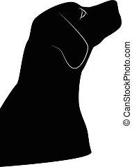 Dog silhouette isolated on white ba