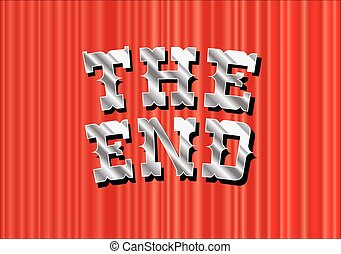 THE END RED CURTAN