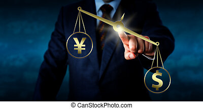 US Dollar Outweighing The Yuan On A Golden Scale