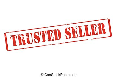 Trusted - Rubber stamp with text trusted inside, vector...