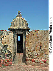 Lookout at Fort San Cristobal San J - A photograph of the...