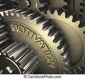 Gear Motivation - Set of gears with the word motivation...