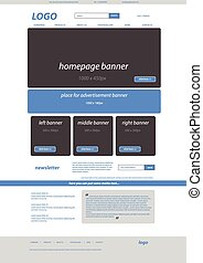 business web layout for company or non-profit organization