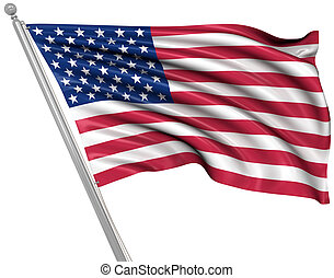 American Flag , This is a computer generated and 3d rendered...