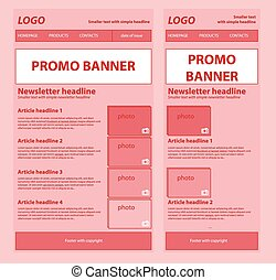Responsive newsletter template for business or non-profit...