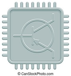 Microchip icon for various design
