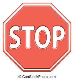Stop sign icon for various design
