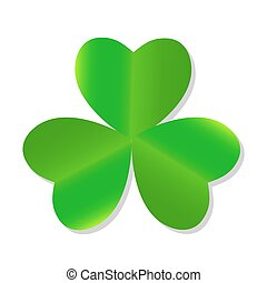 Three Leaf Green Clover Vector Illustration EPS10