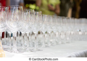Wine tasting. Glasses