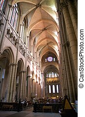 indoor church of avignon - inside public free access church...