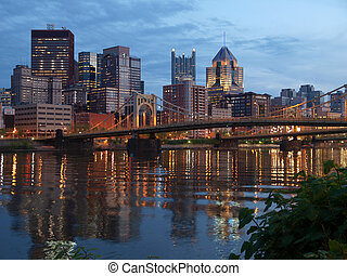 Pittsburgh and the Ohio River - Pittsburgh Pennsylvania and...