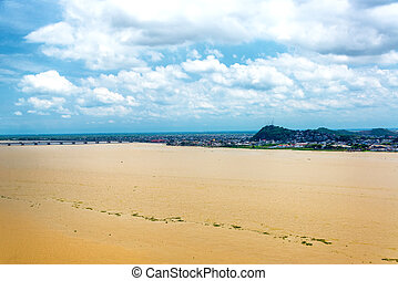 Guayas River View - View of the Guayas River in Guayaquil,...