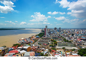 Guayaquil, Ecuador Cityscape - Cityscape view of Guayaquil,...