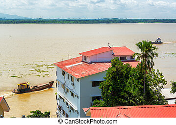 Guayaquil River View - View of a building in Guayaquil,...