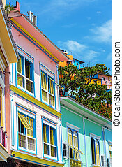 Colorful Guayaquil, Ecuador - Facades of colorful buildings...