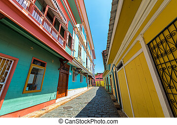 Guayaquil Street View - Street view in historic Las Penas...