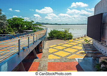 Guayaquil View - View of part of the boardwalk in Guayaquil,...