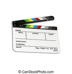 Independent movie clapper board - color checker - ( modified...