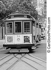 San Francisco cable car system - California USA - SAN...