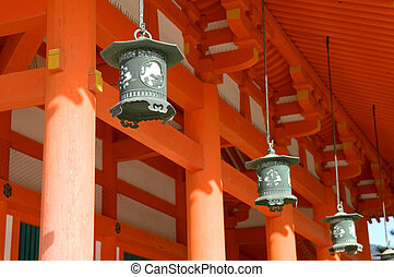 Heian Shrine - Lanterns of Heian Shrine, the one of the...