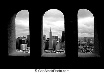Transamerica Pyramid against in San Francisco, CA. - SAN...