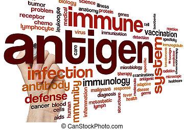 antígeno, palabra, nube,