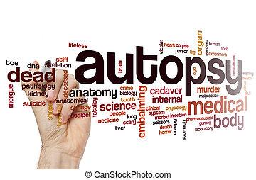 Autopsy word cloud concept