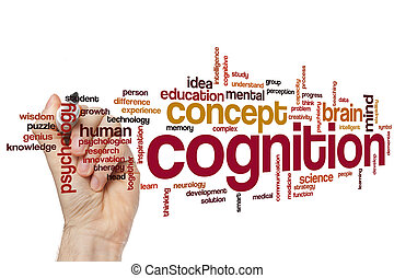 cognição, palavra, nuvem