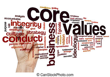 Core values word cloud - Core values concept word cloud...